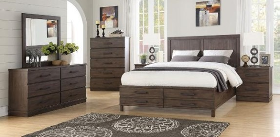 SOLID WOOD Antique Brown Finish 8 Pc Set