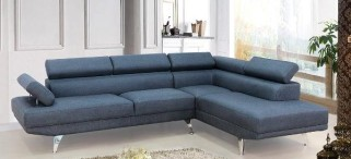 Contemp Grey Fabric Sectional