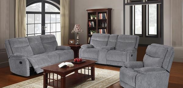 Fabric Grey Recliner